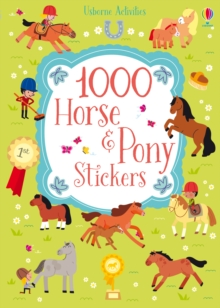 1000 Horse and Pony Stickers, Paperback Book