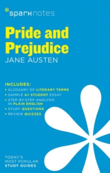 Pride and Prejudice SparkNotes Literature Guide, Paperback Book