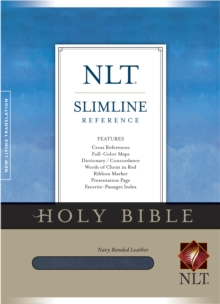 Slimline Reference Bible-NLT, Leather / fine binding Book