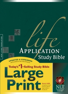 Life Application Study Bible-NLT-Large Print, Hardback Book