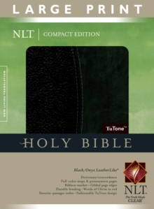Large Print Compact Bible-NLT, Leather / fine binding Book