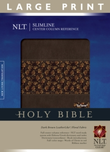 Slimline Reference Bible-NLT-Large Print Center Column Reference, Leather / fine binding Book