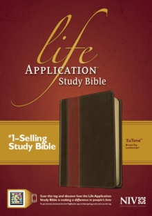 NIV Life Application Study Bible, Second Edition, TuTone (Red Letter, LeatherLike, Brown/Tan, Indexed), Leather / fine binding Book