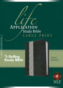 Life Application Study Bible-NLT-Large Print, Leather / fine binding Book