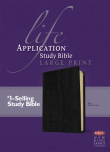 NKJV Life Application Study Bible Large Print, Leather / fine binding Book