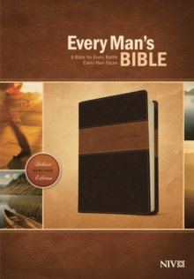 Every Man's Bible NIV, Deluxe Heritage Edition, TuTone (LeatherLike, Brown/Tan), Leather / fine binding Book