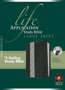 Life Application Study Bible-NLT Large Print, Leather / fine binding Book