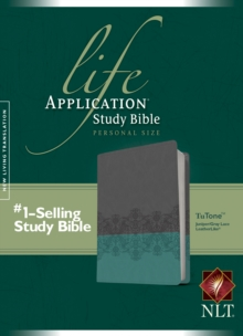 NLT Life Application Study Bible, Second Edition, Personal Size (LeatherLike, Gray Lace/Juniper), Leather / fine binding Book