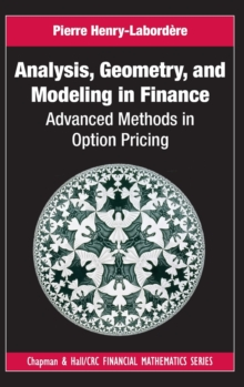Analysis, Geometry, and Modeling in Finance : Advanced Methods in Option Pricing, Hardback Book