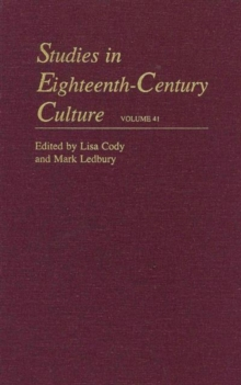 Studies in Eighteenth-Century Culture : Volume 41, Hardback Book