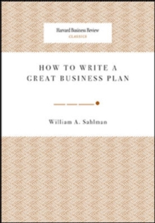 How to Write a Great Business Plan, Paperback Book