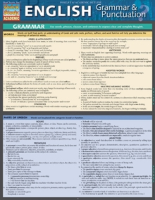 English Grammar & Punctuation, Fold-out book or chart Book