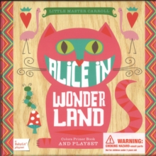 BabyLit Alice in Wonderland Playset with Book : Colors Primer Book and Playset, Board book Book