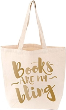Books Are My Bling Tote. Cream, Other printed item Book