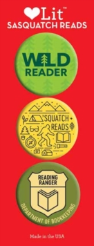 Sasquatch Reads 3-Button Assortment, Other printed item Book