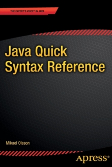 Java Quick Syntax Reference, Paperback / softback Book