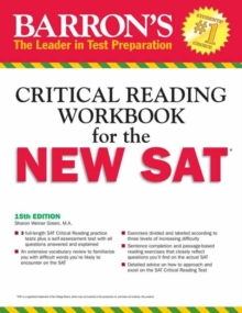 Barron's Reading Workbook for the New SAT, 15th Edition, Paperback Book