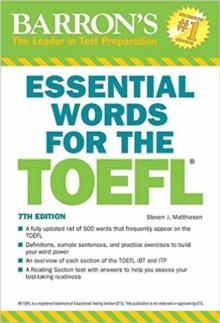 Essential Words for the TOEFL, 7th Edition, Paperback Book