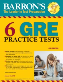 Barron's 6 GRE Practice Tests, Paperback / softback Book