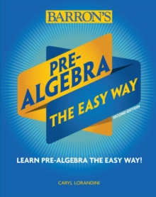 Pre-Algebra: The Easy Way, Paperback / softback Book