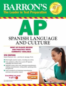 Barron's AP Spanish Language and Culture with MP3 CD & CD-ROM, Paperback / softback Book