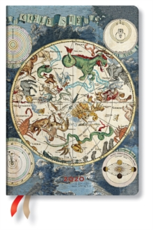 Celestial Planisphere Midi day-at-a-time 2020 Diary, Diary Book