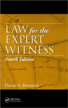 Law for the Expert Witness, Fourth Edition, Hardback Book
