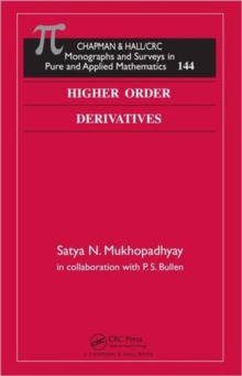 Higher Order Derivatives, Hardback Book