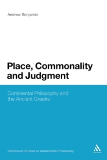 Place, Commonality and Judgment, Paperback / softback Book