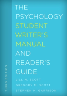 The Psychology Student Writer's Manual and Reader's Guide, EPUB eBook