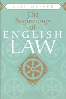 The Beginnings of English Law, Paperback / softback Book
