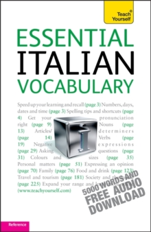 Essential Italian Vocabulary: Teach Yourself, Mixed media product Book