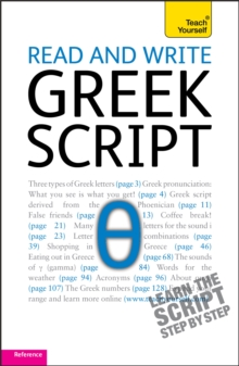 Read and write Greek script: Teach yourself, Paperback / softback Book