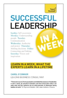 Successful Leadership in a Week: Teach Yourself, Paperback Book