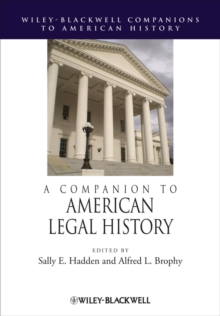 A Companion to American Legal History, Hardback Book