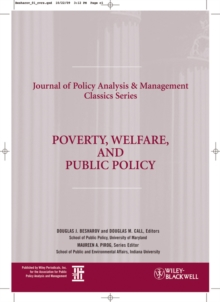 Poverty, Welfare, and Public Policy, Paperback Book