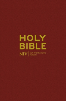 NIV Popular Burgundy Hardback Bible, Hardback Book
