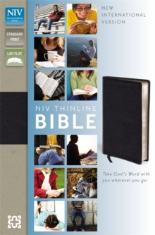 NIV Thinline Black Bonded Leather Bible, Hardback Book