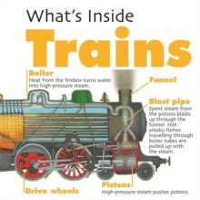 What's Inside?: Trains, Hardback Book
