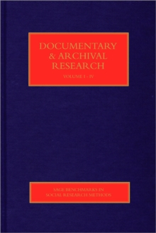 Documentary & Archival Research, Hardback Book