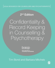 Confidentiality & Record Keeping in Counselling & Psychotherapy, Paperback / softback Book