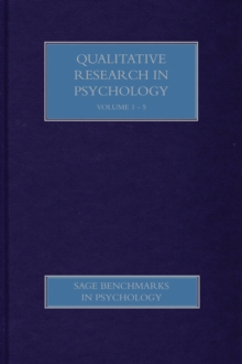 Qualitative Research in Psychology, Hardback Book