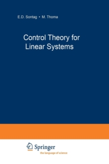 Control Theory for Linear Systems, Paperback / softback Book