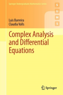 Complex Analysis and Differential Equations, Paperback / softback Book