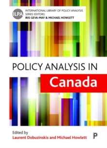 Policy analysis in Canada, Hardback Book