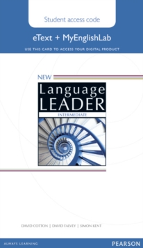 New Language Leader Intermediate eText Access Card with MyEnglishLab Pack, Digital product license key Book