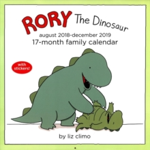 Rory the Dinosaur Family Organiser 2018-2019 17-Month Square Wall Calendar, Calendar Book