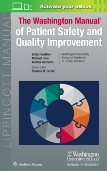 Washington Manual of Patient Safety and Quality Improvement, Paperback / softback Book