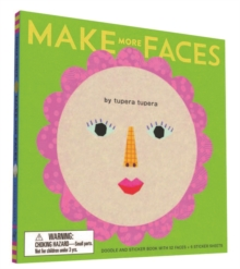 Make More Faces : Doodle and Sticker Book with 52 Faces + 6 Sticker Sheets, Hardback Book