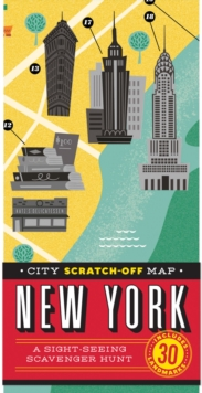 City Scratch-Off Map: New York : A Sight-Seeing Scavenger Hunt, Sheet map, folded Book